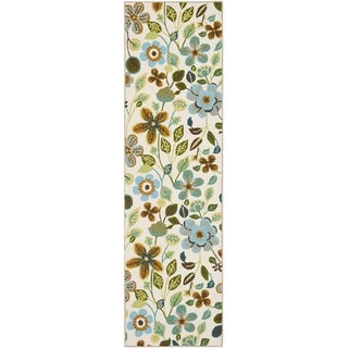 Safavieh Hand-Hooked Four Seasons Ivory / Multicolored Polyester Rug (2' x 6')