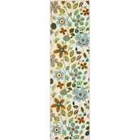 """Safavieh Hand-Hooked Four Seasons Ivory / Multicolored Polyester Rug - 2'3"""" x 6'"""