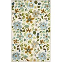Safavieh Hand-Hooked Four Seasons Ivory / Multicolored Polyester Rug - 3'6 x 5'6