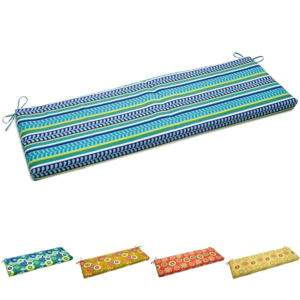 """Blazing Needles 60-inch All-Weather Bench Cushion - 60"""" x 19"""". Opens flyout."""
