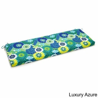 Blazing Needles Floral 19x60-inch Outdoor Spun Poly 3-Seater Bench Cushion
