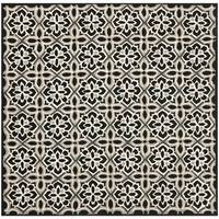 Safavieh Hand-Hooked Four Seasons Black/ Ivory Polyester Rug - 6'