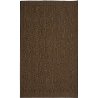 Safavieh Palm Beach Chocolate Brown Sisal Rug (8' x 11')