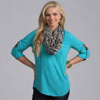 Link to Peach Couture Women's Zebra Striped Infinity Loop Scarf  Similar Items in Scarves & Wraps