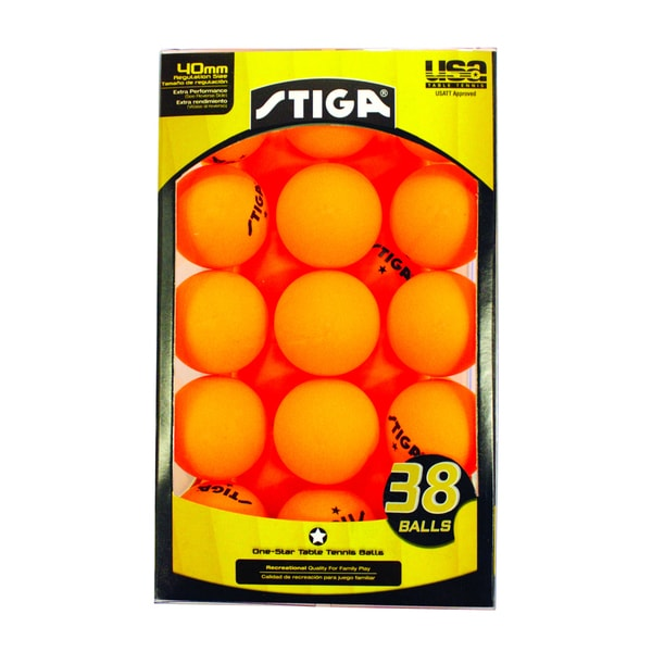 Stiga one star orange table tennis balls pack of 38 for 1 star table tennis balls