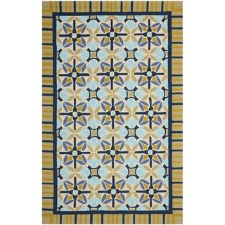 Safavieh Four Seasons Stain Resistant Hand-hooked Tan Rug (8' x 10')