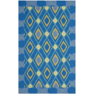 Safavieh Four Seasons Stain Resistant Hand-hooked Indigo Rug (3'6 x 5'6)