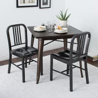 Strick & Bolton Charcoal Metal Dining Chairs (Set of 2)