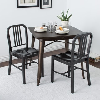 charcoal metal dining chairs set of 2