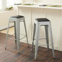 Carbon Loft Tabouret 30-inch Padded Metal Barstools (Set of 2)