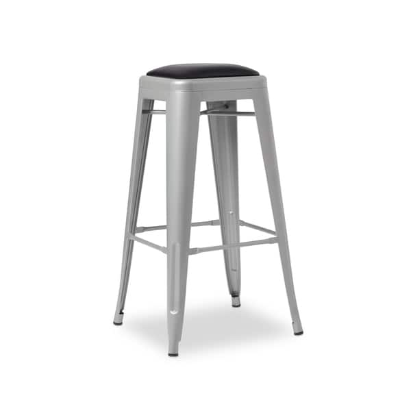 Tremendous Shop 30 Inch Padded Metal Barstools Set Of 2 Free Inzonedesignstudio Interior Chair Design Inzonedesignstudiocom