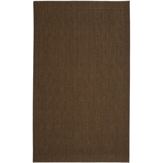 Safavieh Palm Beach Chocolate Brown Sisal Rug (4' x 6')