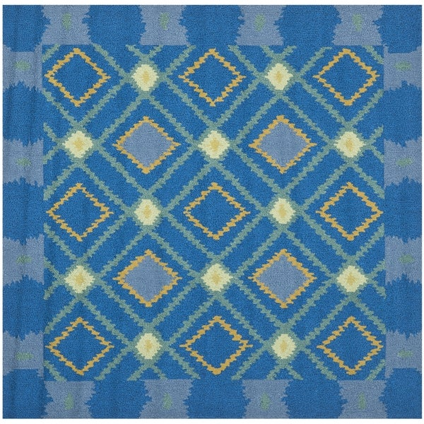Safavieh Hand-Hooked Four Seasons Indigo Polyester Rug (6' Square)