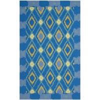 Safavieh Hand-Hooked Four Seasons Indigo Polyester Rug - 8' x 10'