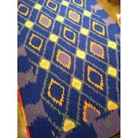 Safavieh Hand-Hooked Four Seasons Indigo Polyester Rug - 8' x 10'