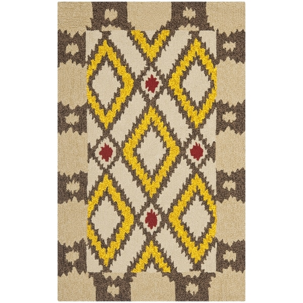 Safavieh Hand-Hooked Four Seasons Beige Polyester Rug (2'6 x 4')