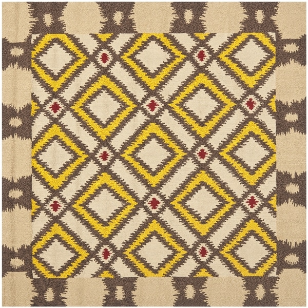 Safavieh Four Seasons Stain Resistant Hand-hooked Beige Rug (6' Square)