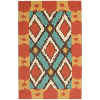 Safavieh Hand-Hooked Four Seasons Light Blue Polyester Rug (2'6 x 4')