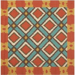 Safavieh Hand-Hooked Four Seasons Light Blue Polyester Rug (6' Square)