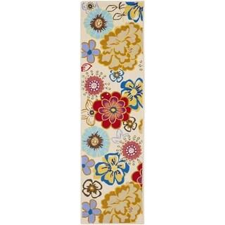 Safavieh Hand-Hooked Four Seasons Ivory / Multi Polyester Rug (2'3 x 8')