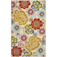 Safavieh Hand-Hooked Four Seasons Ivory / Multi Polyester Rug (8' x 10') - 8' x 10'