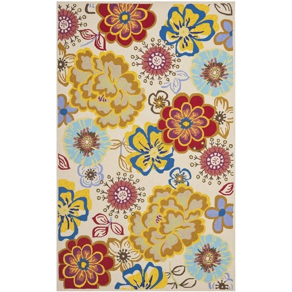 Safavieh Hand-Hooked Four Seasons Ivory / Multi Polyester Rug (8' x 10')