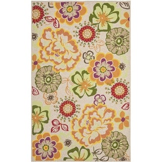 Safavieh Hand-Hooked Four Seasons Ivory / Green Polyester Rug (3'6 x 5'6)