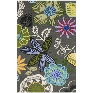 Safavieh Four Seasons Stain Resistant Hand-hooked Grey Rug (2'6 x 4')