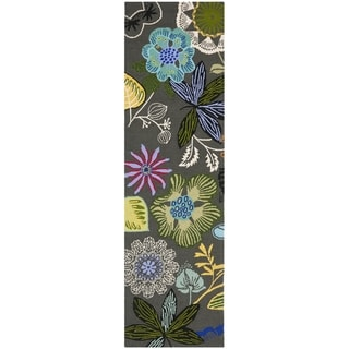 Safavieh Four Seasons Stain Resistant Hand-hooked Grey Rug (2' x 6')