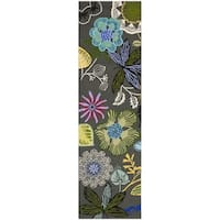 Safavieh Hand-Hooked Four Seasons Grey / Multicolored Rug - 2' x 6'