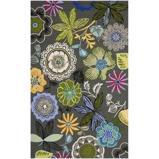 Safavieh Four Seasons Stain Resistant Hand-hooked Grey Rug (8' x 10')