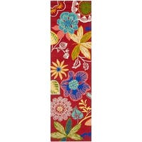 """Safavieh Hand-Hooked Four Seasons Red/ Multicolored Polyester Rug - 2'3"""" x 8'"""