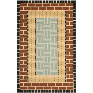 Safavieh Hand-Hooked Four Seasons Brown/ Blue Polyester Rug (3'6 x 5'6)