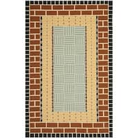 Safavieh Hand-Hooked Four Seasons Brown/ Blue Polyester Rug - 5' x 8'