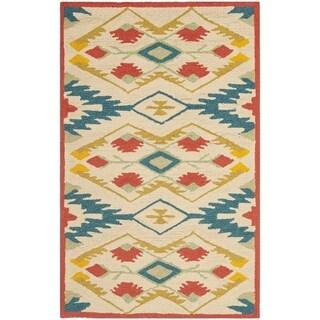Safavieh Hand-Hooked Four Seasons Southwestern Natural/ Blue Polyester Runner (2'6 x 4')