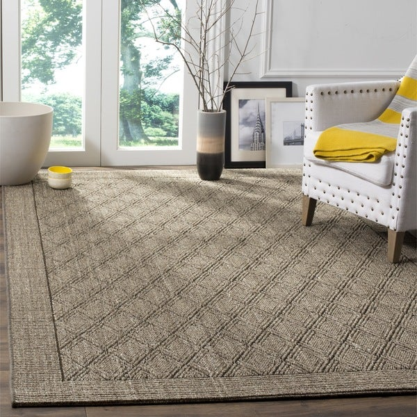 Safavieh palm beach silver grey sisal rug 8 39 x 11 39 free shipping today overstock 15069674 Home goods palm beach gardens