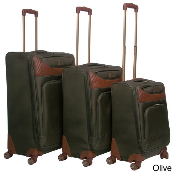 Caribbean Joe 'Castaway' 3-piece Spinner Luggage Set