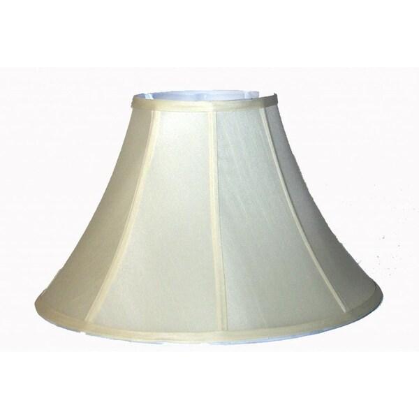 Beige Shantung Silk Bell Lamp Shade