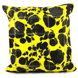 Mina Victory Natural Leather and Hide Large Leopard Yellow Throw Pillow (20-inch x 20-inch) by Nourison|https://ak1.ostkcdn.com/images/products/7655229/Mina-Victory-Yellow-Large-Leopard-Print-Natural-Leather-Hide-20-x-20-inch-Pillow-by-Nourison-P15069702.jpg?impolicy=medium