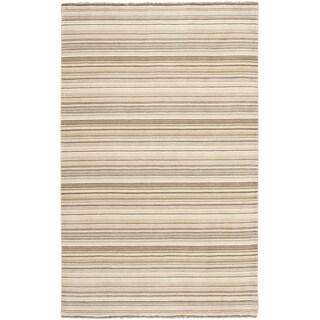 Safavieh Hand-knotted Tibetan Stripes Natural Wool Rug (4'x 6')