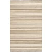 Safavieh Hand-knotted Tibetan Stripes Natural Wool Rug - 5' x 8'