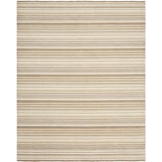 Safavieh Hand-knotted Tibetan Stripes Natural Wool Rug (8' x 10')