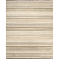 Safavieh Hand-knotted Tibetan Stripes Natural Wool Rug - 8' x 10'