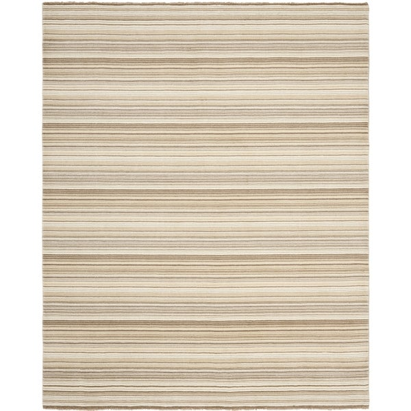 Safavieh Hand-knotted Tibetan Stripes Natural Wool Rug (9' x 12')