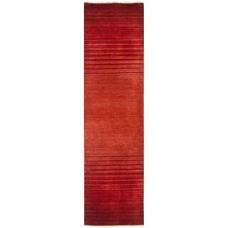 Safavieh Hand-knotted Tibetan Stripes Rust Wool Rug (2' x 8')