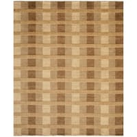 Safavieh Hand-knotted Tibetan Squares Brown Wool Rug - 9' x 12'
