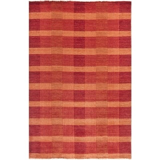Shop Safavieh Hand Knotted Tibetan Squares Red Wool Rug