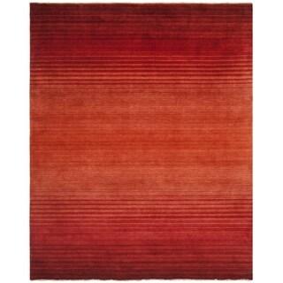Shop Safavieh Hand Knotted Tibetan Stripes Rust Wool Rug