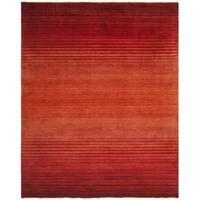 Safavieh Hand-knotted Tibetan Stripes Rust Wool Rug - 8' X 10'