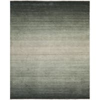 Safavieh Hand-knotted Tibetan Stripes Dark Blue Wool Rug - 9' X 12'